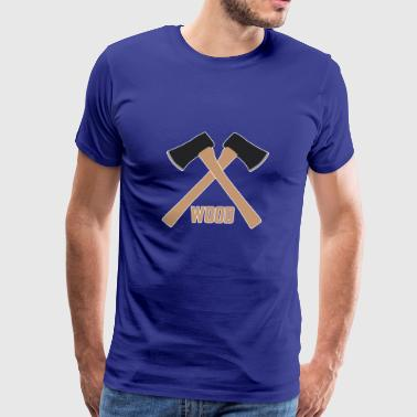 wood axe - Men's Premium T-Shirt