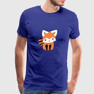 Red Panda Bear Cute Blushing Animal Lover - Men's Premium T-Shirt