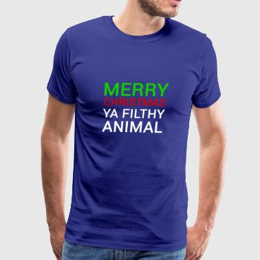 Funny Movie Merry Christmas Filthy Animal - Men's Premium T-Shirt