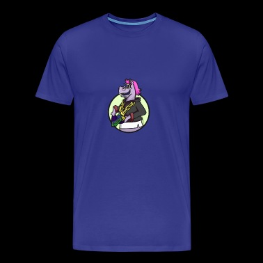 GHETTO UNICORN present girl - Men's Premium T-Shirt