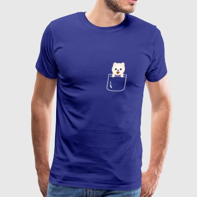 Pomeranian In Your Front Pocket Funny Dog - Men's Premium T-Shirt
