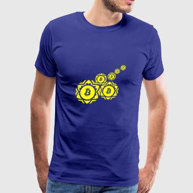 GIFT - BITCOIN 5 YELLOW - Men's Premium T-Shirt