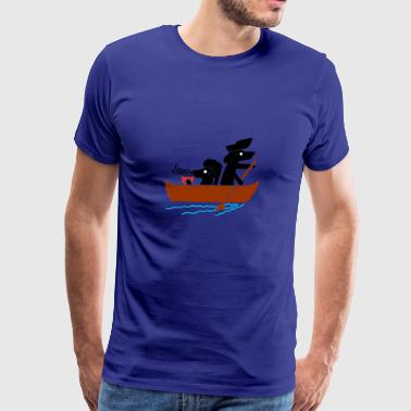 Dog of Summer Drink Coffee - Men's Premium T-Shirt