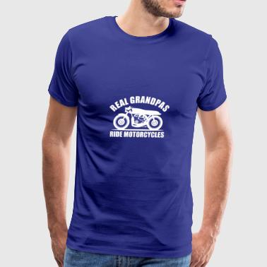 real grandpas ride motorcycles - Men's Premium T-Shirt