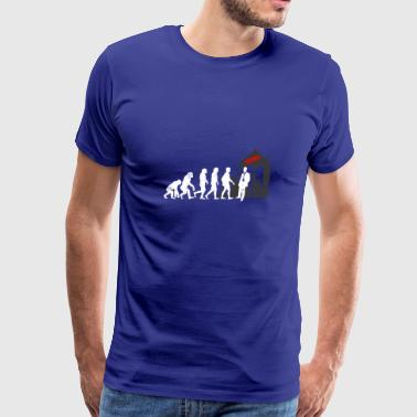 Funny Property Broker Evolution - Men's Premium T-Shirt