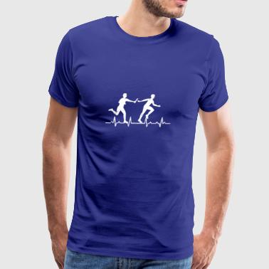 Relay Race Sports Athlete Heartbeats Gift - Men's Premium T-Shirt