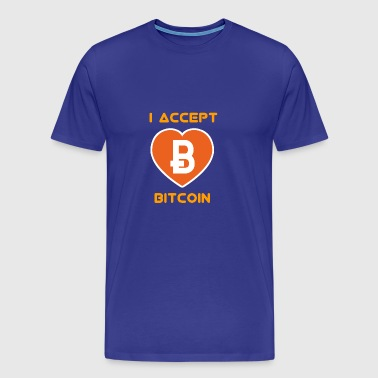 bitcoin accept Nerd pc geek - Men's Premium T-Shirt