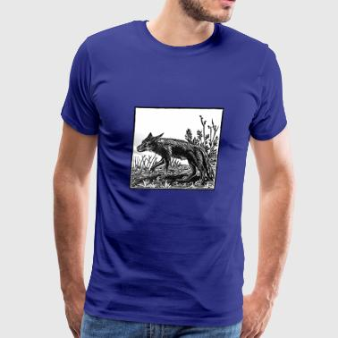 Coyote Linocut - Men's Premium T-Shirt
