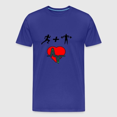 healthy heart from fitness - Men's Premium T-Shirt