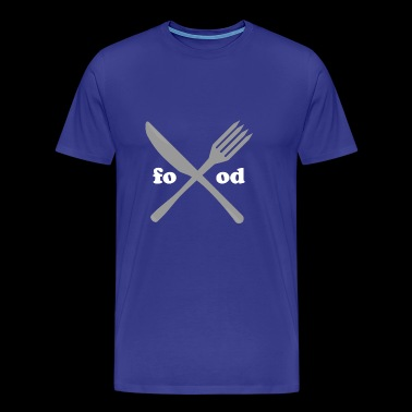 food love foodie fork knife gift idea present - Men's Premium T-Shirt