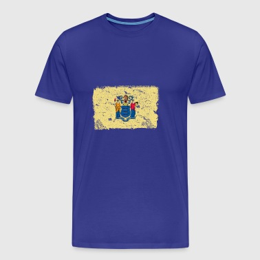 New Jersey Vintage Flag - Men's Premium T-Shirt