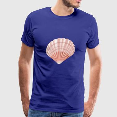 Sea Shell cool vector image sealife awesome funny - Men's Premium T-Shirt