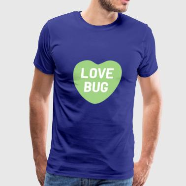 Love Bug Green Candy Heart - Men's Premium T-Shirt