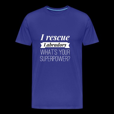 I rescue Labradors - Men's Premium T-Shirt