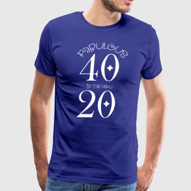 FAB40NEW20-White - Men's Premium T-Shirt