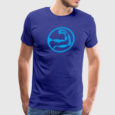 Cape Cod Superhero Logo - Blue - Men's Premium T-Shirt