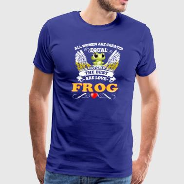 Best Woman Are Love Frog - Men's Premium T-Shirt
