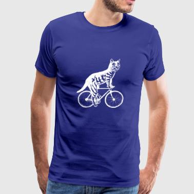 Cat Ride Bicycle shirts- Funny Cat On Bicycle - Men's Premium T-Shirt