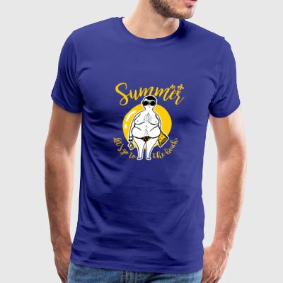 beach summer - Men's Premium T-Shirt