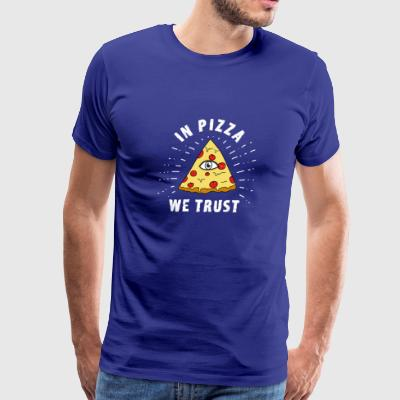 in pizza we trust illumiati pyramide humor food ea - Men's Premium T-Shirt