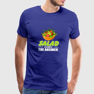 Salad Lover T-Shirt. Costume Ideas For Mom/Grandma - Men's Premium T-Shirt
