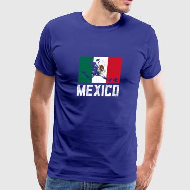 Mexican flag soccer T-Shirt - Men's Premium T-Shirt