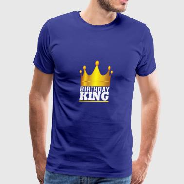 Gold Crown Birthday King Birthday - Men's Premium T-Shirt
