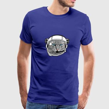 astro cat helmet space kitty moon astronaut meow - Men's Premium T-Shirt