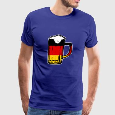 german beer, oktoberfest, germany flag - Men's Premium T-Shirt