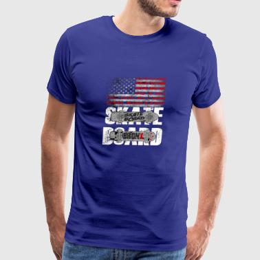 Skateboard Shirts American Flag Funny - Men's Premium T-Shirt