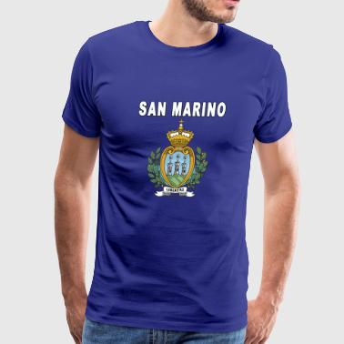 San Marino National Emblem for Men or Women Styles - Men's Premium T-Shirt
