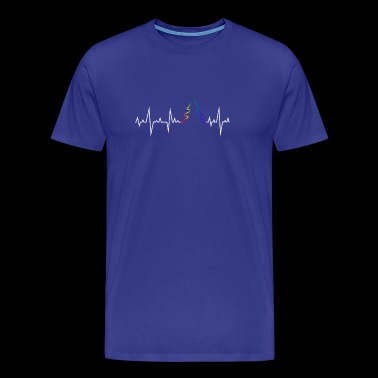 Gay Rainbow Christmas Heartbeat - Men's Premium T-Shirt