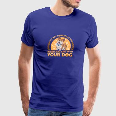 Funny Corgi dog designs - Men's Premium T-Shirt