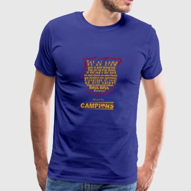 Lyrics of the FC Barcelona Anthem - Men's Premium T-Shirt