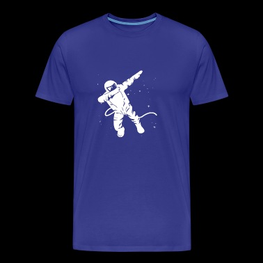 Astronaut dabbing in Space T Shirt - Men's Premium T-Shirt