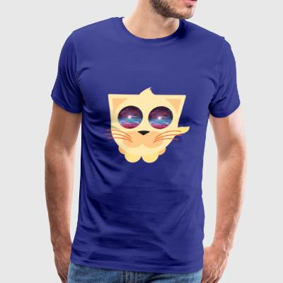 cat space eyes - Men's Premium T-Shirt