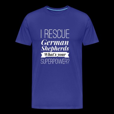 I rescue German Shepherds - Men's Premium T-Shirt