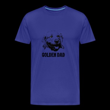 Golden Dad Golden Retriever - Men's Premium T-Shirt