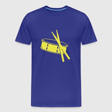 A drum and sticks - Men's Premium T-Shirt