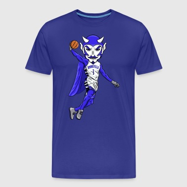 Blue Devils Mascot Basketball - Men's Premium T-Shirt