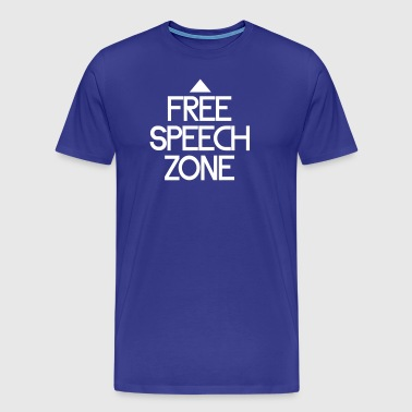 free speech zone - Men's Premium T-Shirt