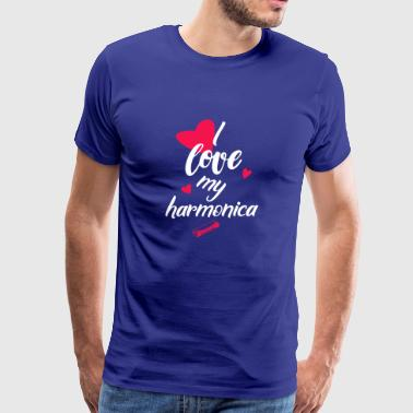 gift I love my harmonica - Men's Premium T-Shirt