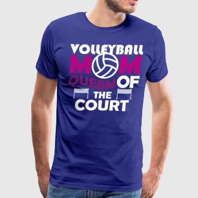Volleyball Mom Queen of the court - Men's Premium T-Shirt