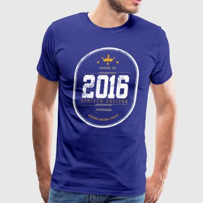 Made In 2016 Limited Edition Vintage - Men's Premium T-Shirt