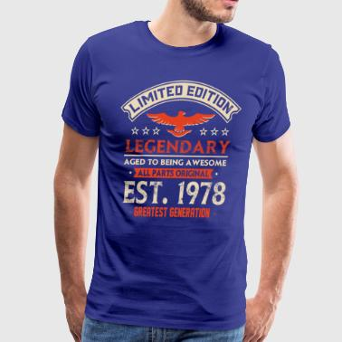 Limited Edition Legendary Est 1978 - Men's Premium T-Shirt