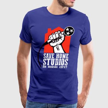 Save Home Studios In Music City - Men's Premium T-Shirt