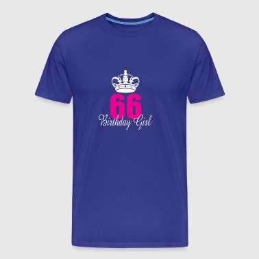 Birthday Girl 66 Years Old - Men's Premium T-Shirt