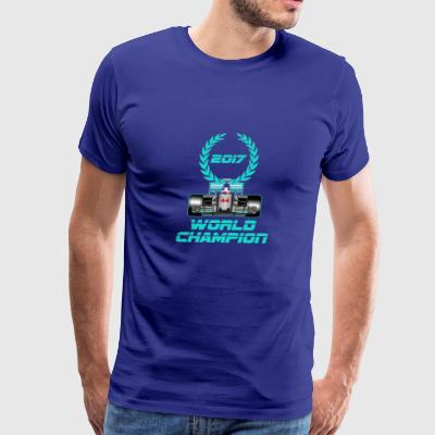 Lewis Hamilton F1 2017 World Champion - Men's Premium T-Shirt