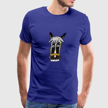 crazy german horse Seppl Comic - Men's Premium T-Shirt