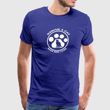 cat rescue - Men's Premium T-Shirt